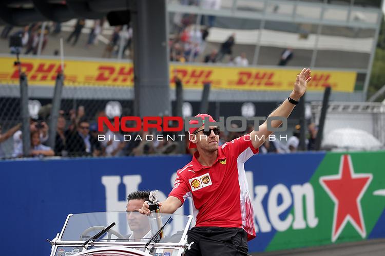 02.09.2018, Autodromo di Monza, Monza, FORMULA 1 GRAN PREMIO HEINEKEN D'ITALIA 2018<br />,im Bild<br />Fahrerparade mit Sebastian Vettel (GER#5), Scuderia Ferrari<br /> <br /> Foto © nordphoto / Bratic