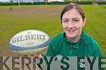 Irish Rugby International Helen Brosnan Ballymac relaxing after a tough Six Nations championship