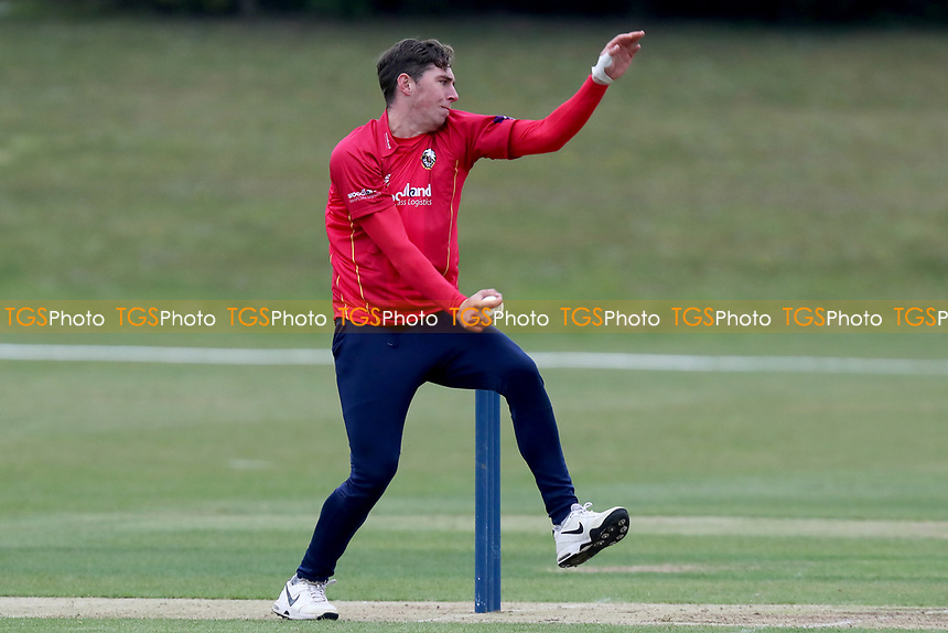 Daniel Lawrence in bowling action during Essex CCC 2nd XI vs Surrey CCC 2nd XI, Second XI Trophy Cricket at Billericay Cricket Club on 3rd May 2017