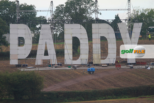 Controversial Paddy Power sign overlooking the course at the 2010 Ryder Cup at the Celtic Manor Twenty Ten Course, Newport, Wales, 29th September 2010..(Picture Eoin Clarke/www.golffile.ie)