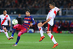 (L-R) Neymar (Barcelona), Gabriel Mercado (River), <br /> DECEMBER 20, 2015 - Football / Soccer : <br /> FIFA Club World Cup Japan 2015 <br /> Final match between River Plate 0-3 Barcelona  <br /> at Yokohama International Stadium in Kanagawa, Japan.<br /> (Photo by Yohei Osada/AFLO SPORT)
