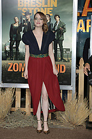 """LOS ANGELES - OCT 11:  Emma Stone at the """"Zombieland Double Tap"""" Premiere at the TCL Chinese Theater on October 11, 2019 in Los Angeles, CA"""