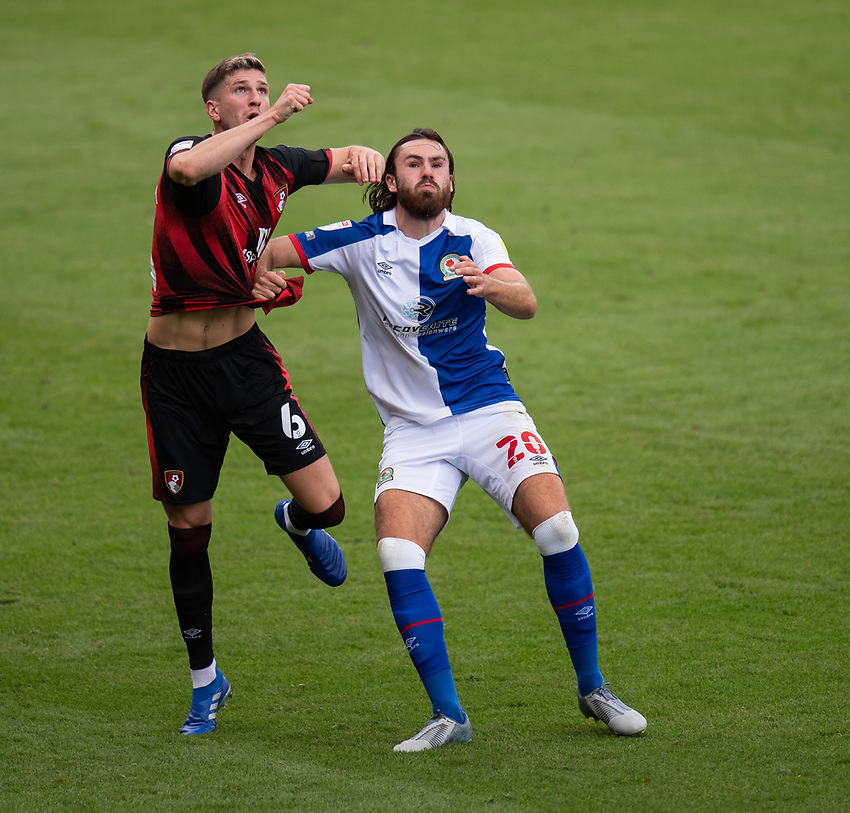 (Blackburn Rovers' Lewis Holtby (right)battles with Bournemouth's Chris Mepham (left) <br /> <br /> Photographer David Horton/CameraSport <br /> <br /> The EFL Sky Bet Championship - Bournemouth v Blackburn Rovers - Saturday September 12th 2020 - Vitality Stadium - Bournemouth<br /> <br /> World Copyright © 2020 CameraSport. All rights reserved. 43 Linden Ave. Countesthorpe. Leicester. England. LE8 5PG - Tel: +44 (0) 116 277 4147 - admin@camerasport.com - www.camerasport.com