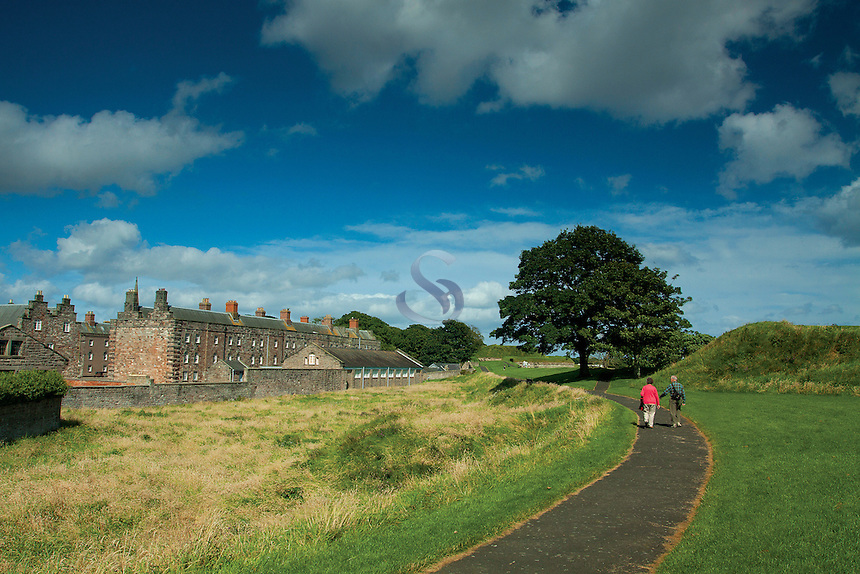 The historic Town Walls of Berwick-upon-Tweed and The Barracks, Northumberland