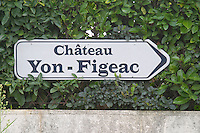 Chateau Yon Figeac. Saint Emilion, Bordeaux, France