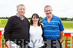 Dan Reidy (Knocknagoshel), Marie O'Connor (Firies) and Dan McCarthy (Abbeydorney) attending the Castleisland Races on Sunday.