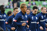 Melbourne, 28 October 2018 - Keisuke Honda of Melbourne Victory in the round two match of the A-League between Melbourne Victory and Perth Glory at AAMI Park, Melbourne, Australia. Victory lost 3-2