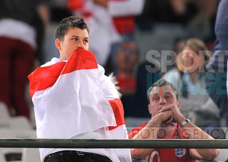 Dejected England fans Free State Stadium, Bloemfontein