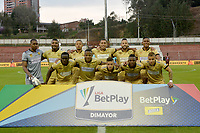 RIONEGRO - COLOMBIA, 14-02-2020: Jugadores de Rionegro posan para una foto previo al partido por la fecha 5 entre Rionegro Águilas y Deportes Tolima como parte de la Liga BetPlay DIMAYOR I 2020 jugado en el estadio Alberto Grisales de la ciudad de Rionegro. / Players of Rionegro pose to a photo prior Match for the date 5 between Rionegro Aguilas and Deportes Tolima as part BetPlay DIMAYOR League I 2020 played at Alberto Grisales stadium in Rionegro city. Photo: VizzorImage / Leon Monsalve / Cont