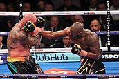 24th March 2018, O2 Arena, London, England; Matchroom Boxing, WBC Silver Heavyweight Title, Dillian Whyte versus Lucas Browne; Dillian Whyte lands and straight right had to Lucas Browne