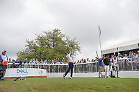 Justin Thomas (USA) watches his tee shot on 7 during day 5 of the World Golf Championships, Dell Match Play, Austin Country Club, Austin, Texas. 3/25/2018.<br /> Picture: Golffile | Ken Murray<br /> <br /> <br /> All photo usage must carry mandatory copyright credit (© Golffile | Ken Murray)