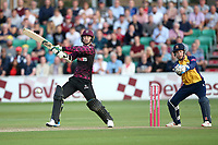 Ed Byrom in batting action for Somerset during Essex Eagles vs Somerset, Vitality Blast T20 Cricket at The Cloudfm County Ground on 7th August 2019