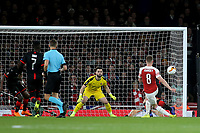 Aaron Ramsey of Arsenal takes a shot at the Rennes goal in the first half during Arsenal vs Rennes, UEFA Europa League Football at the Emirates Stadium on 14th March 2019