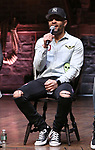 """Terrance Spencer during a Q & A before The Rockefeller Foundation and The Gilder Lehrman Institute of American History sponsored High School student #EduHam matinee performance of """"Hamilton"""" at the Richard Rodgers Theatre on 3/20/2019 in New York City."""
