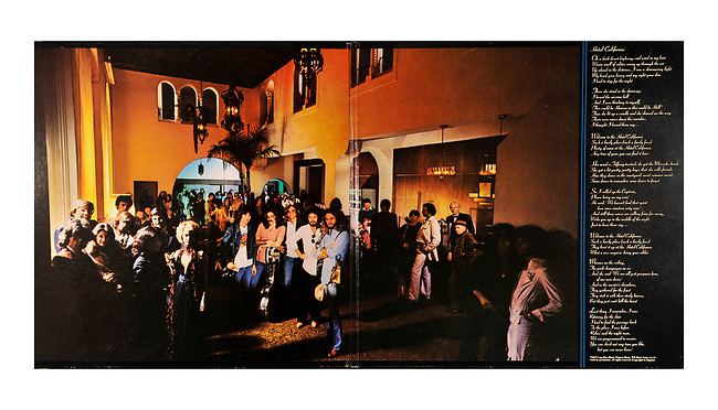 Eagles Hotel Calif. album interior gatefold