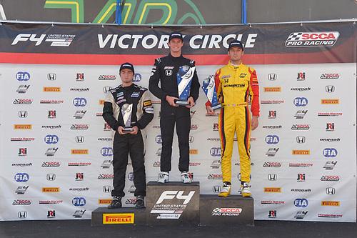 F4 US Championship<br /> Rounds 13-14-15<br /> Virginia International Raceway, Alton, VA USA<br /> Sunday 27 August 2017<br /> 8, Kyle Kirkwood, victory lane<br /> World Copyright: Gavin Baker<br /> LAT Images