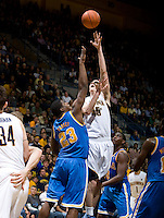 David Kravish of California shoots the ball during the game against UCLA at Haas Pavilion in Berkeley, California on February 14th, 2013.   California defeated UCLA, 77-63.