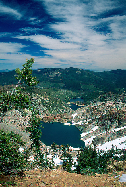 Young America Lake in Gold Lakes Basin, Sierra County, CA