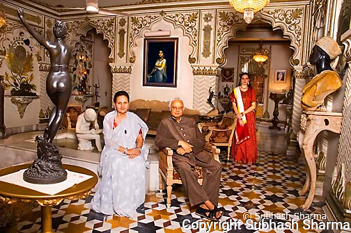 Pranlal Bhogilal , Renowned businessman with family at his palatial home.