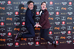 Ernesto Sevilla and Joaquin Reyes attends red carpet of Goya Cinema Awards 2018 at Madrid Marriott Auditorium in Madrid , Spain. February 03, 2018. (ALTERPHOTOS/Borja B.Hojas)