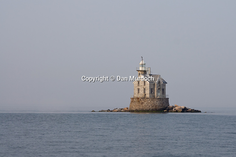 Middleground (Stratford Shoal) Lighthouse on a quiet morning