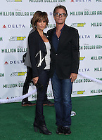 HOLLYWOOD, CA - MAY 6:  Lisa Rinna, Harry Hamlin at the Premiere Of Disney's 'Million Dollar Arm'  on May 6, 2014 at El Capitan Theatre in Hollywood, California. Credit: SP1/Starlitepics /nortephoto.com