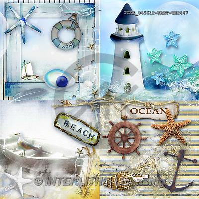 Isabella, MODERN, MODERNO, paintings+++++,ITKE045612-KART-GN,#n# maritime lighthouse ,everyday