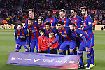 04.03.2017 Barcelona. La Liga game 26. Picture show FCB line up during game between FC Barcelona against Celta at Camop Nou