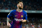 Lionel Andres Messi of FC Barcelona looks on during the La Liga 2017-18 match between FC Barcelona and Malaga CF at Camp Nou on 21 October 2017 in Barcelona, Spain. Photo by Vicens Gimenez / Power Sport Images