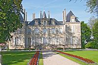The Chateau Pichon Longueville Comtesse de Lalande and garden Pauillac Medoc Bordeaux Gironde Aquitaine France