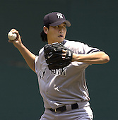 Washington, D.C. - June 18, 2006 -- New York Yankees pitcher Chien-Ming Wang (40) pitches in first inning action against the Washington Nationals at RFK Stadium in Washington, D.C. on June 18, 2006.<br />