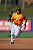 St. Lucie Mets first baseman Jeremy Vasquez (16) runs the bases during a game against the Daytona Tortugas on August 3, 2018 at First Data Field in Port St. Lucie, Florida.  Daytona defeated St. Lucie 3-2.  (Mike Janes/Four Seam Images)