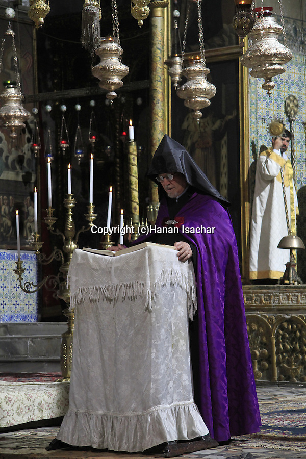 Israel, Jerusalem, Transfiguration Day at the Armenian Orthodox St. James Cathedral