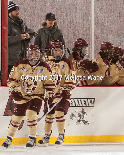 Grace Bizal (BC - 2), Makenna Newkirk (BC - 19) - The Boston College Eagles defeated the Harvard University Crimson 3-1 on Tuesday, January 10, 2017, at Fenway Park in Boston, Massachusetts.The Boston College Eagles defeated the Harvard University Crimson 3-1 on Tuesday, January 10, 2017, at Fenway Park.