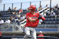 TEMPORARY UNEDITED FILE:  Image may appear lighter/darker than final edit - all images cropped to best fit print size.  <br /> <br /> Under Armour All-American Game presented by Baseball Factory on July 19, 2018 at Les Miller Field at Curtis Granderson Stadium in Chicago, Illinois.  (Mike Janes/Four Seam Images) Hunter Barco is a pitcher from The Bolles School in Jacksonville, Florida committed to Florida.