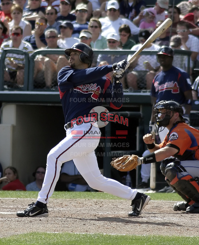 March 27, 2004:  Eli Marrero of the Atlanta Braves organization during Spring Training at Wide World of Sports in Orlando, FL.  Photo copyright Mike Janes/Four Seam Images