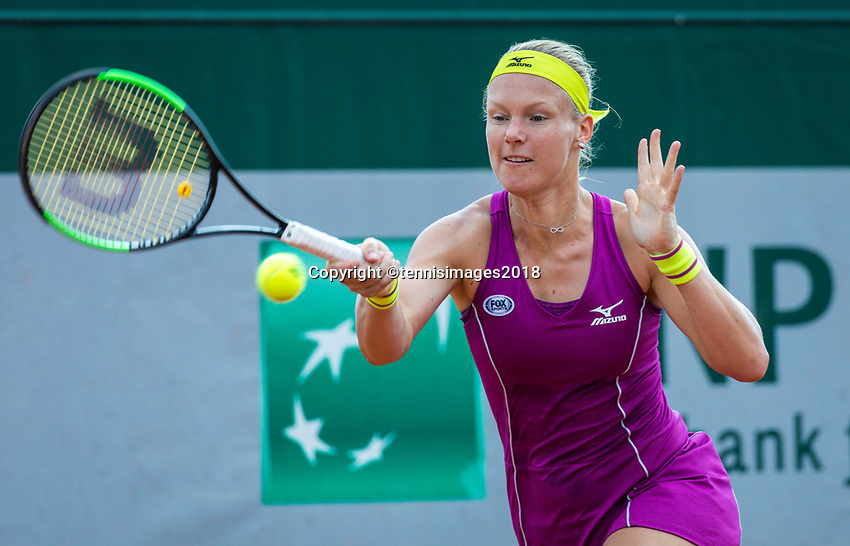 Paris, France, 30 May, 2018, Tennis, French Open, Roland Garros, Womans Doubles : Kiki Bertens (NED)<br /> Photo: Henk Koster/tennisimages.com