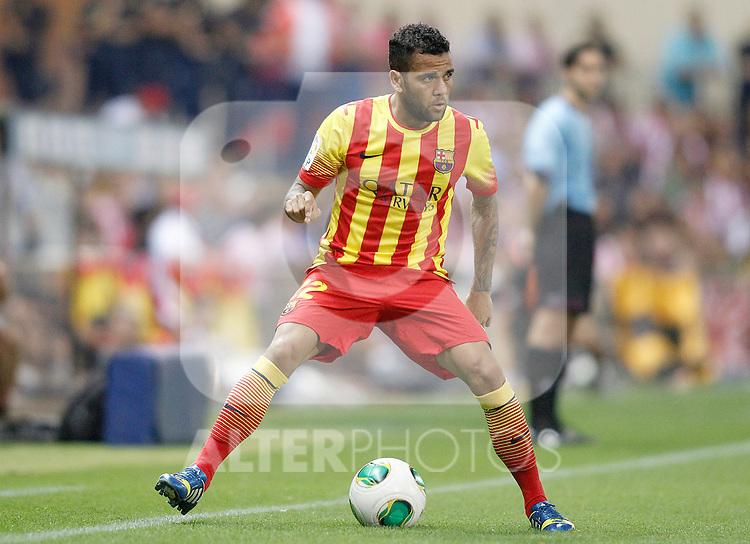 FC Barcelona's Daniel Alves during Supercup of Spain 1st match.August 21,2013. (ALTERPHOTOS/Acero)