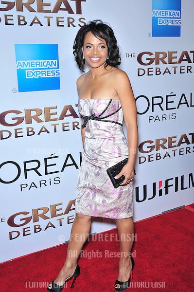 "Gina Ravera at the Los Angeles premiere of her new movie ""The Great Debaters"" at the Cinerama Dome, Hollywood..December 11, 2007  Los Angeles, CA.Picture: Paul Smith / Featureflash"