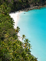 View of Gibney / Oppenheimer Beach.Virgin Islands National Park.St. John.U.S. Virgin Islands