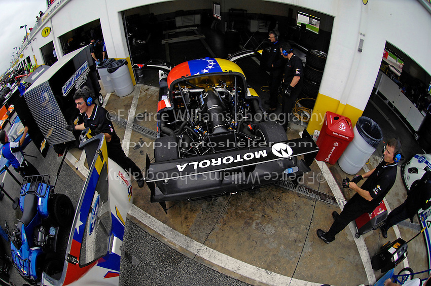 The #2 Starworks Motorsport Ford/Riley of Mauirizio Scala, Miguel Potolicchio & Ryan Hunter-Reay is prepared for the final practice session before the Rolex 24...
