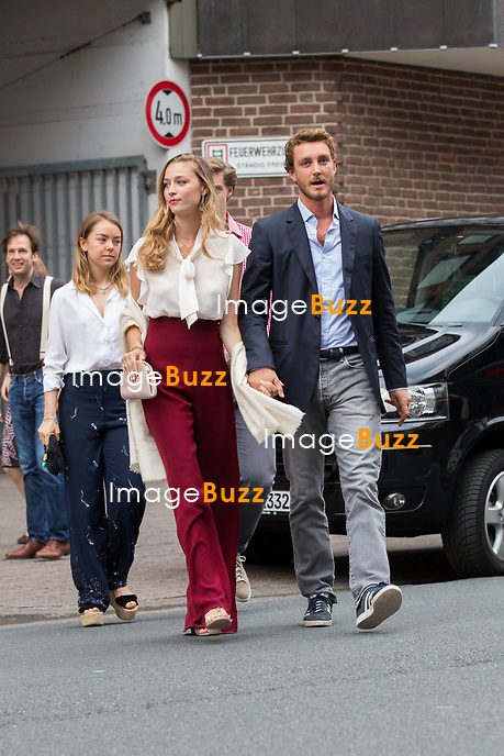 Soir&eacute;e d'avant-mariage du Prince Ernst junior de Hanovre et de Ekaterina Malysheva, &agrave; la Brasserie Ernst August Brauhaus, &agrave; Hanovre.<br /> Allemagne, Hanovre, 7 juillet 2017.<br /> Pre wedding party of Prince Ernst Junior of Hanover and Ekaterina Malysheva at the Ernst August Brauhaus restaurant in Hanover.<br /> Germany, Hanover, 7 july 2017<br /> Pic : Prince Pierre Casiraghi &amp; wife Beatrice Borromeo, Princess Alexandra of Hanover