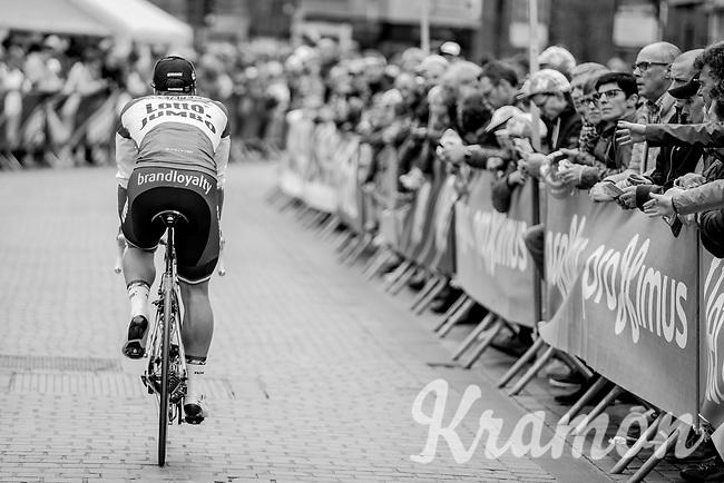 Dylan Groenewegen (NED/Lotto Jumbo NL) on his way to the team presentation in Mol<br /> <br /> 105th Scheldeprijs 2017 (1.HC)<br /> 1day race: Mol &gt; Schoten 200km