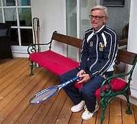 Austria, Kitzbuhel, Juli 14, 2015, Tennis, Davis Cup, Training Dutch team, Coach Martin Bohm<br /> Photo: Tennisimages/Henk Koster