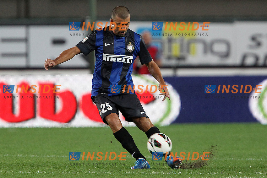 "Walter Samuel Inter.Verona 26/09/2012 Stadio ""Bentegodi"".Football Calcio Serie A 2012/13.Chievo v Inter.Foto Insidefoto Paolo Nucci."