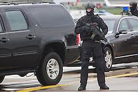 16-04-25 Sicherheitsvorkehrungen bei Obamas Abflug aus Hannover