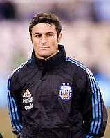 Javier Zanetti. The USMNT tied Argentina, 1-1, at the New Meadowlands Stadium in East Rutherford, NJ.