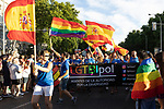 Police in manifestation of the lgtb pride party of Madrid. July 6, 2019. (ALTERPHOTOS/JOHANA HERNANDEZ)