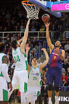 League ACB-ENDESA 2017/2018 - Game: 27.<br /> FC Barcelona Lassa vs Real Betis Energia Plus: 121-56.<br /> Adam Hanga, Ryan Kelly &amp;  Rade Zagorac.