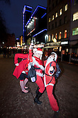 LONDON, ENGLAND - Santacon London 2010, Santas in Leicester Square